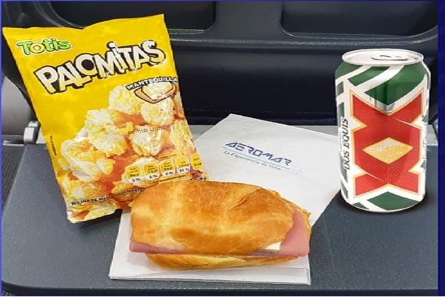 Aeromar estrena servicio de alimentos a bordo