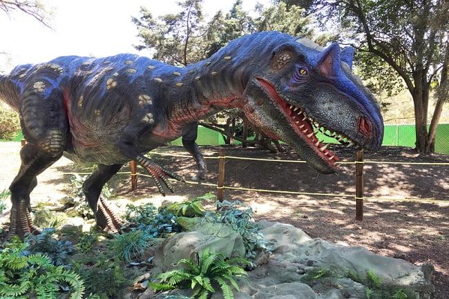 Exhibición de dinosaurios en Xochitla